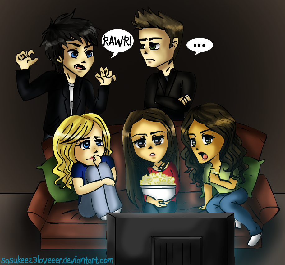The Vampire Diaries cartoon - YouTube